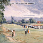 Streatham Common, looking west towards Immanuel Church by Charles John De Lacey