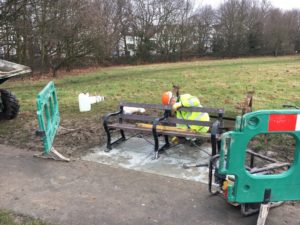 new benches on streatham common march 2017