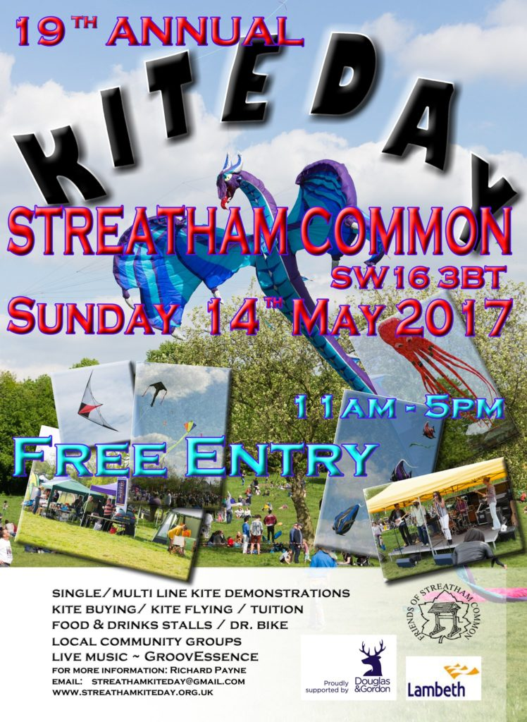 Kite day Sunday 14 May 2017 Streatham Common