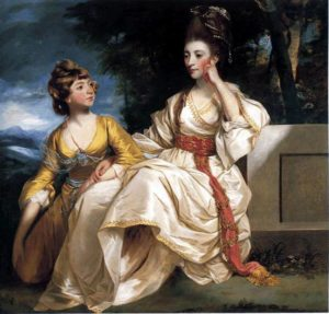 Local girls, Queenie and Hester Thrale, painted by Joshua Reynolds - part of the Streatham Worthies in the early 18th Century