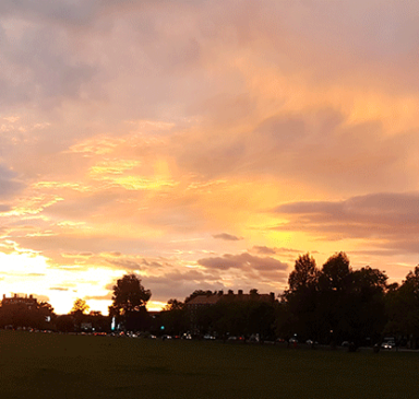 Autumn Sunset october 2017 Streatham Common by LOGrady