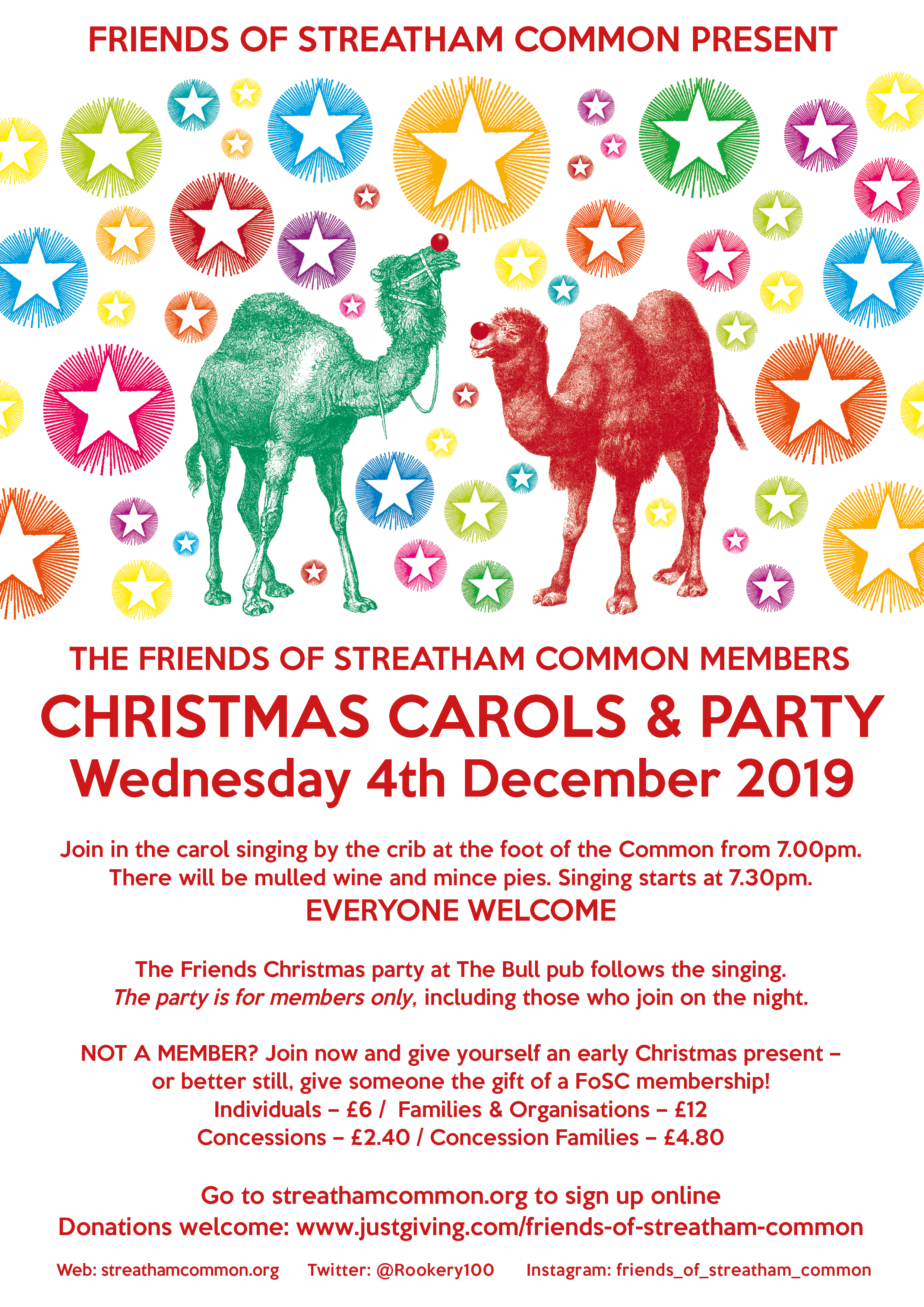 Christmas Carols Fosc Party 4th December 2019 Friends Of Streatham Common