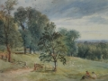 DAVID COX JUNIOR WATERCOLOUR `Streatham`