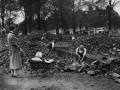 Streatham Common Digging trenches WW2
